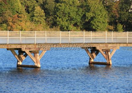 park bro mellemstykke udendore udendors ferskvand