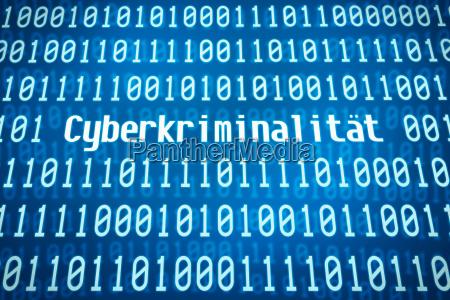 codice binario con la parola criminalita