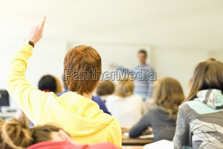 rear, view, of, classroom, full, of - 12973206
