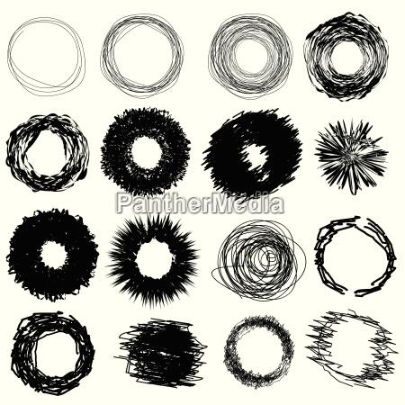handtegnede cirkler