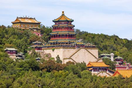 longevity hill tower of buddha orange