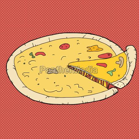 mad levnedsmiddel naeringsmiddel fodevare illustration pizza