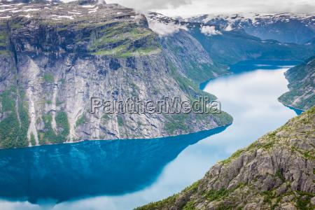 smukke norske landskab med bjerge pa