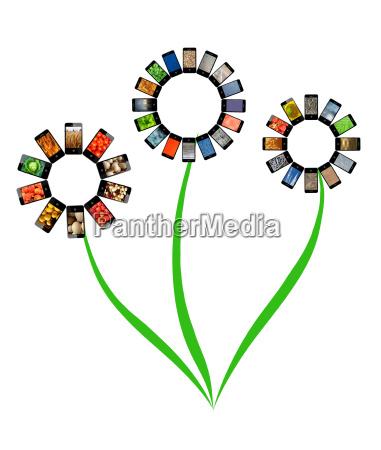 telefon fritlagt blomst plante vaekst afsondret