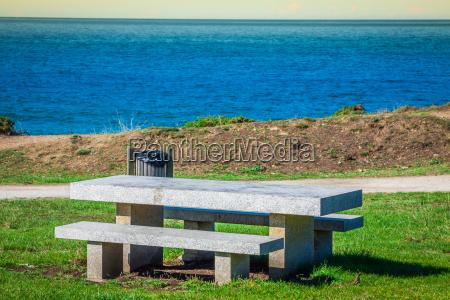 afsondret sted for meditationer pa kysten