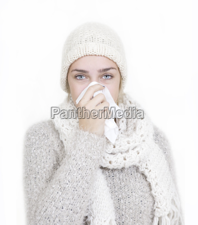kvinde vinter kold koldt portraet efterar
