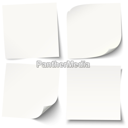 hvide gule sedler med forskellige skygger