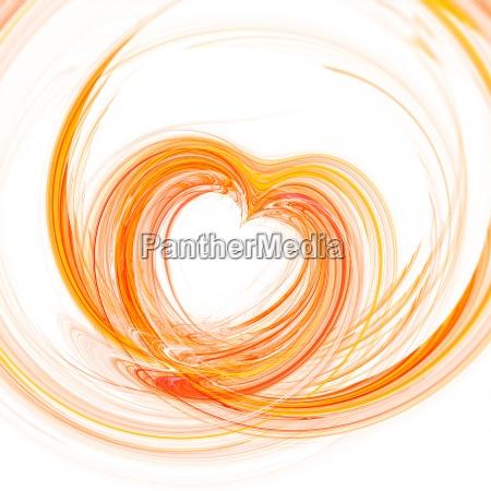 abstrakt hjerte