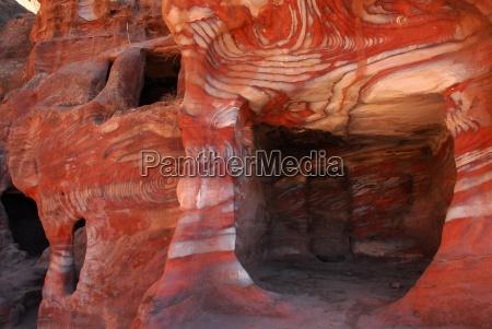 sten stenmasse stenlag klippe jordan sandsten