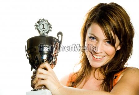 kvinde med succes vellykket kvindelig person