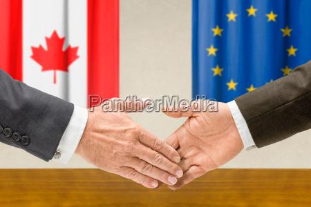 vertreter kanadas und der eu reichen