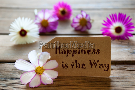 etiket med liv citat lykke er