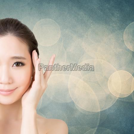 asiatisk skonhed ansigt