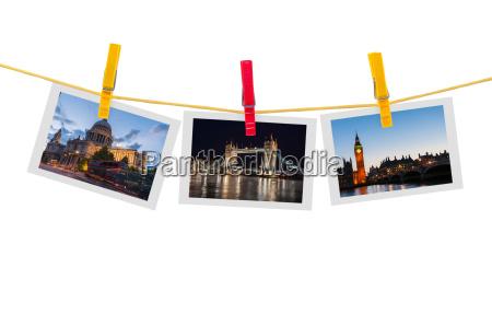 tre billeder af london pa torresnoren