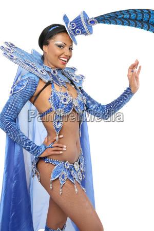 woman blue beautiful beauteously nice travel