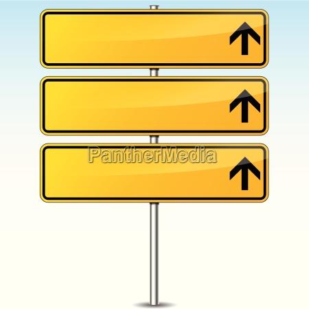 gult tomt vejskilt
