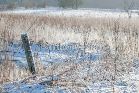 winter landscape at a countryside