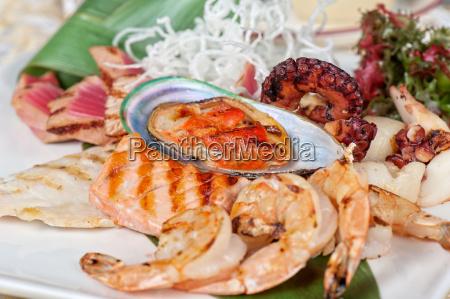 fisk og skaldyr mix