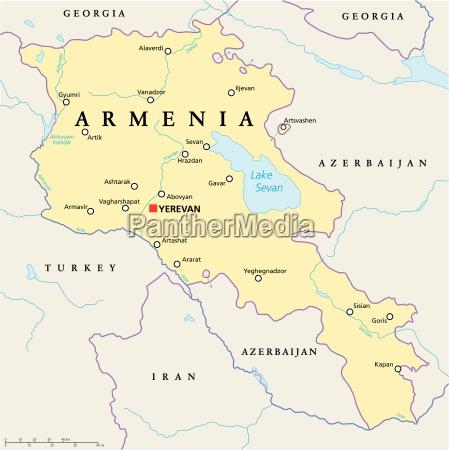 armeniens politiske kort