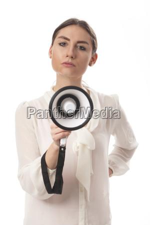 kvinde kommunikation forretningskvinde karriere kvinde hojttaler