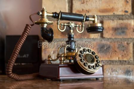 antik analog telefon