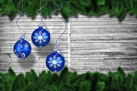 sammensat billede af digital haengende julen