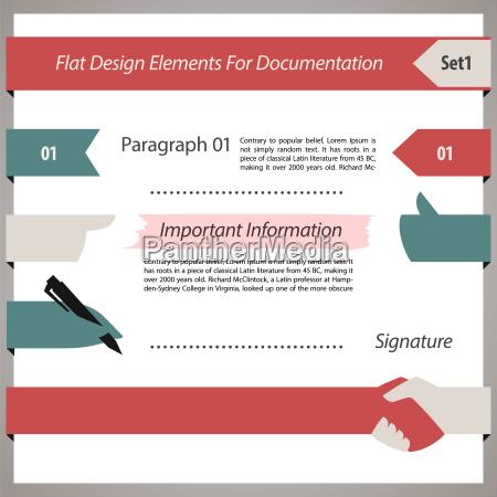 flade design elementer til dokumentation set1