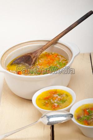 syrisk byg bouillon suppe aleppo stil