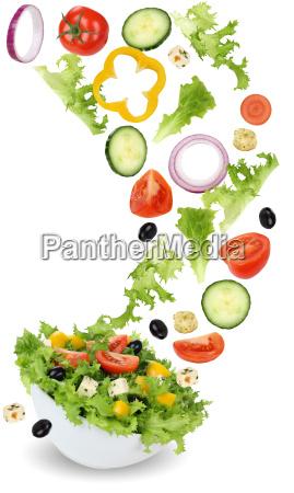 sund vegetarisk spisning salat med tomat