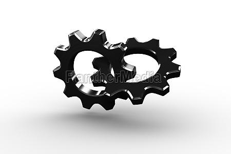 hjul industri teknik illustration metal drivvaerk