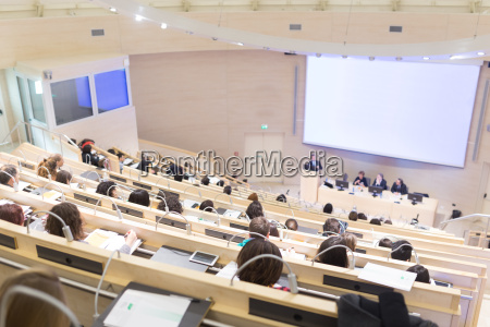 publikum i foredragshallen