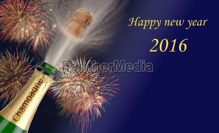 nytar 2016 med champagne flyvende propper