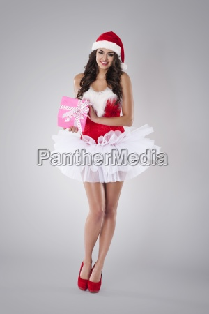 lyserod julegave fra sexet santa claus