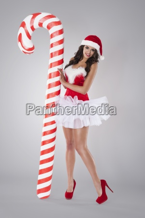 sexet santa claus med jul candy