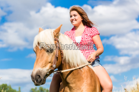 woman with horse at pony