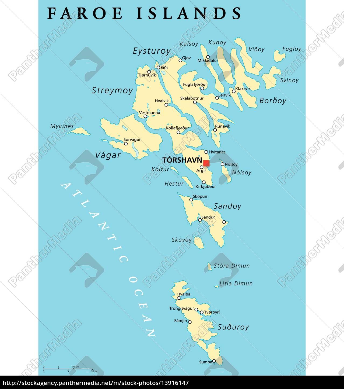 Faeroernes Politiske Kort Royalty Free Image 13916147