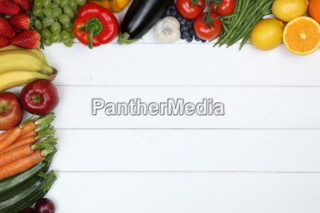 grontsager og frugter som aeble appelsin
