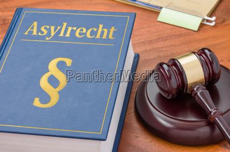 lovbog med richterhammer asylret