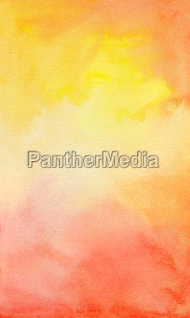 akvarel gul orange rod