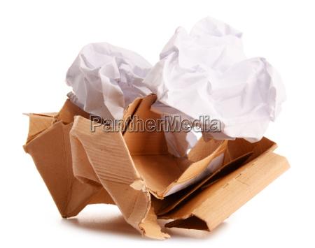 genbrug papir isoleret pa hvidt