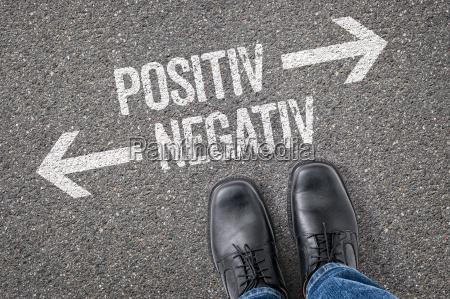 negativ positiv forkert hojre beslutning valg