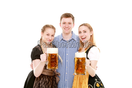 gruppe in tracht