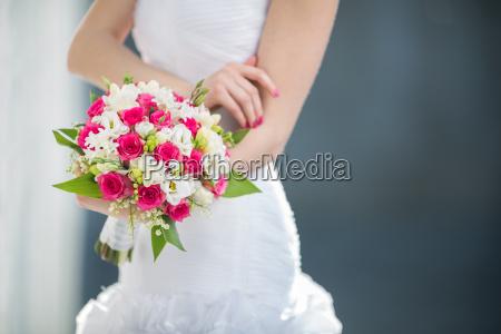 gorgeous bruden pa hendes bryllupsdag farve