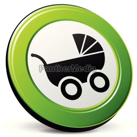 barnevogn 3d ikon