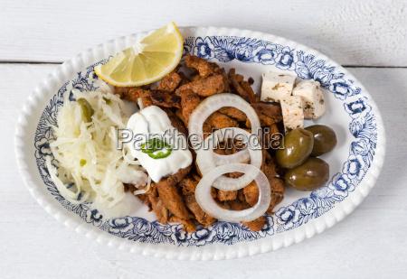 log oliven lemon citron hvidkalssalat