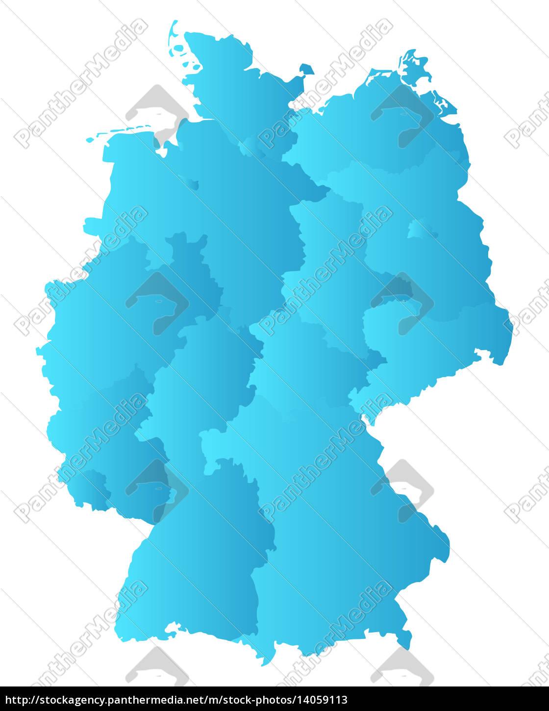 Kort Over Tyskland Stockphoto 14059113 Panthermedia