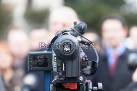 daekker en begivenhed med et videokamera