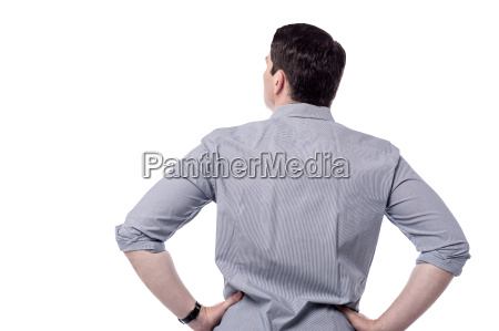 middle aged man from back