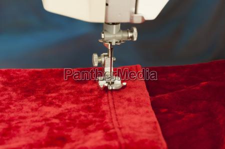mode nal velvet tekstiler rod