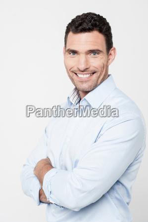handsome man posing in casuals